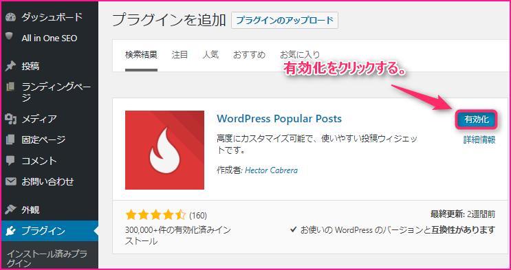 WordPress Popular Postsでブログの人気記事を表示させる方法の説明画像3