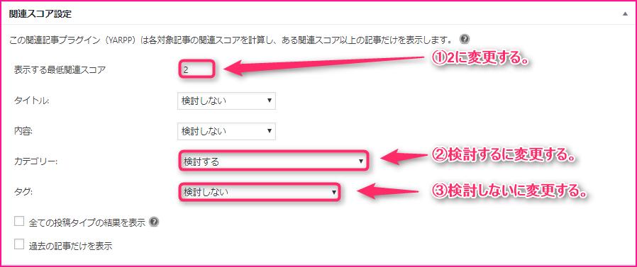 Yet Another Related Posts Pluginでブログ記事の下部に関連記事を表示させる方法の説明画像7