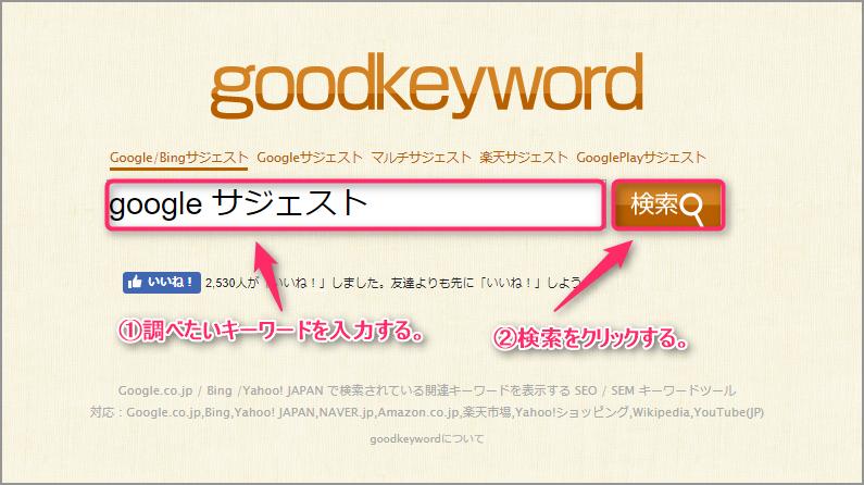 goodkeywordの使い方の説明画像1