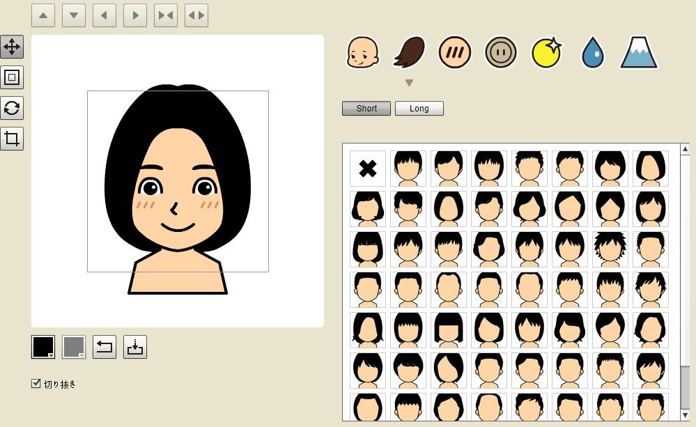 似顔絵メーカー(似顔絵ジェネレータ)のTOPページの画像