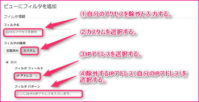 固定IPのアクセスを除外する方法の説明画像3