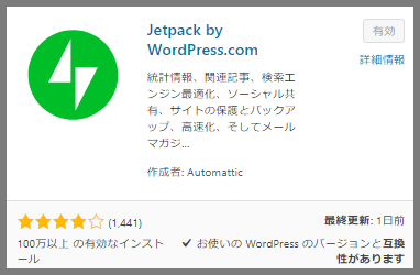 JetPack by WordPress.comの参考画像